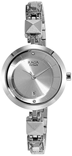 Titan Raga Viva Analog Silver Dial Women #39;s Watch NM2606SM01/NN2606SM01