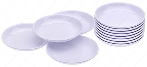 (Round Melamine Soy Dipping Sauce Dishes, Set of 12 Dishes, 3-1/2 Inches (Diameter) x 1/2 Inches (High), 1.5 Ounces)