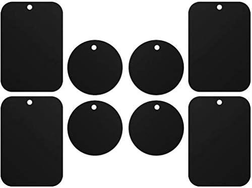 8 Stück Metallplatte Metallplättchen Set Selbstklebend Ersatzplatten 4 Runden 4 Rechteckig Mit Klebefolie Für Magnet