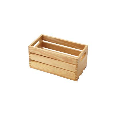 American Metalcraft WTN12 Wooden Crate, Natural, 12''