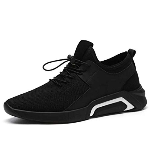 (Mens Running Sneaker,2019 Novelty Casual Mesh Breathable Slip On Outdoor Sports Shoes Black)
