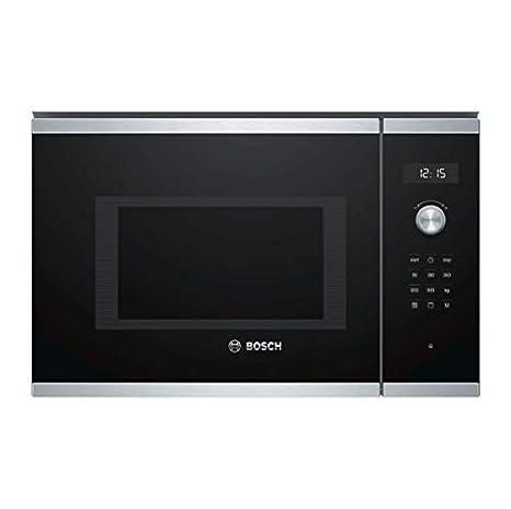 Bosch Serie 6 BEL554MS0 - Microondas integrable / encastre con grill, 25 L, 900W / 1200 W, color negro con acero inoxidable