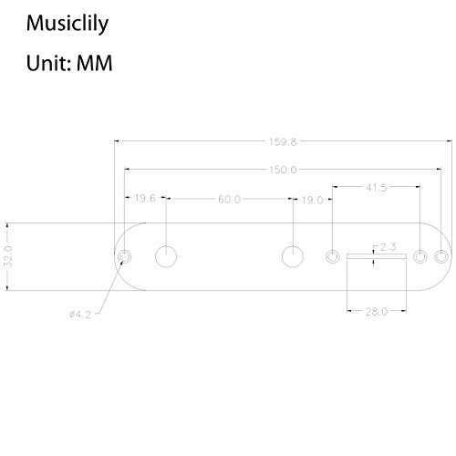 Musiclily 3 Bands Loaded Jazz Bass Control Plate Set with Active Passive Preamp Knobs for FenderB Guitar, Gold by Musiclily (Image #4)