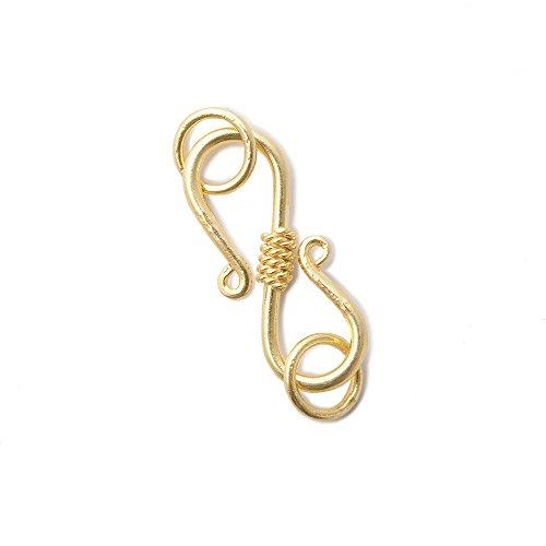 22mm Vermeil S Hook Center Twist Design 1 Piece