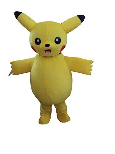 (Sinoocean Pikachu Pokemon Adult Halloween Mascot Costume Fancy Dress)