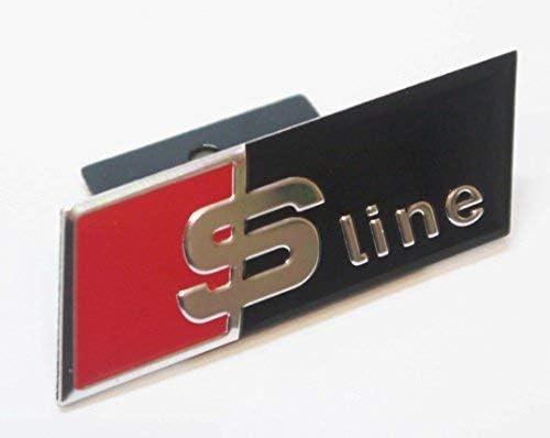 Chrom Schwarz Rot S Line Frontgrill Abzeichen Emblem f/ür verdeckter Gitter Arten