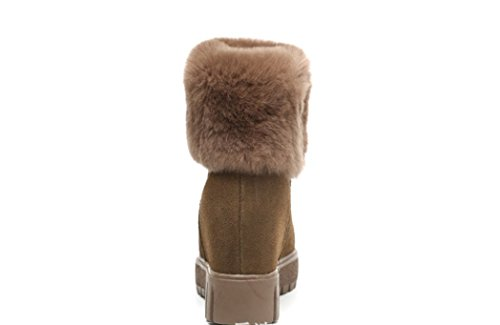 autumn tube boots of female winter Khaki boots thick and Snow short end S5xRwqwz