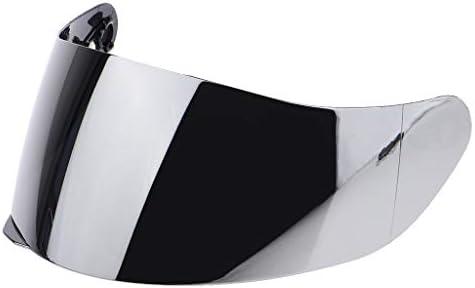 バイザー ヘルメットアクセサリー PC素材 紫外線保護 交換性 保護性 耐久性 長寿命 JK-902 JK-313 JK-105対応 - 銀レンズ