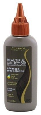 Clairol Beautiful Collection Advanced Gray Solution #2A Rich Dark Brown 3oz (3 Pack)