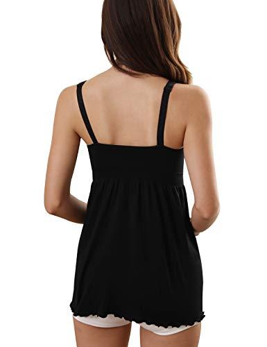 fff59ab2a31f3 iLoveSIA Womens Nursing Tank Maternity Breastfeeding Cami Shirt Black Size S