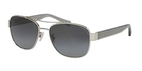 Coach Womens Sunglasses (HC8169) Silver/Grey Metal - Polarized - - Coach Men Sunglasses