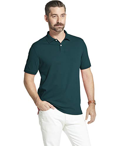 Arrow 1851 Men's Big and Tall Cool Cotton Short Sleeve Heather Polo Shirt, Dragonfly, 4X-Large (Pique Knit Advantage)