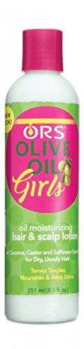 Kids Organic Olive (Organic Root Stimulator Olive Oil Girls Moist Styling Lotion, 8.5 oz)