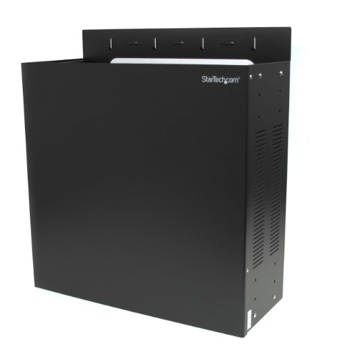 StarTech.com Wall-Mount Server Rack - Low-Profile Cabinet for Servers with Vertical Mounting - 4U ()