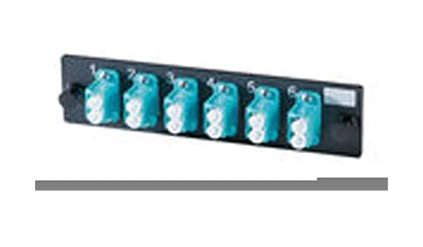 Ortronics 6-LC Duplex Adapter Panel Aqua MM OR-OFP-LCD12LC