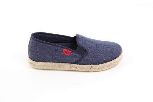 De Color Zapatos Talla Machado Andrés 46 Caucho on borde Azul Tela Unisex Slip Con Yute Am500 Y4q7wC