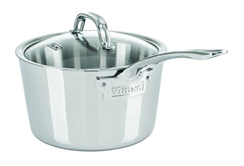 Viking 4013-3003N Contemporary 3-Ply Stainless Steel Soup Pot, 3.4 quart, Silver