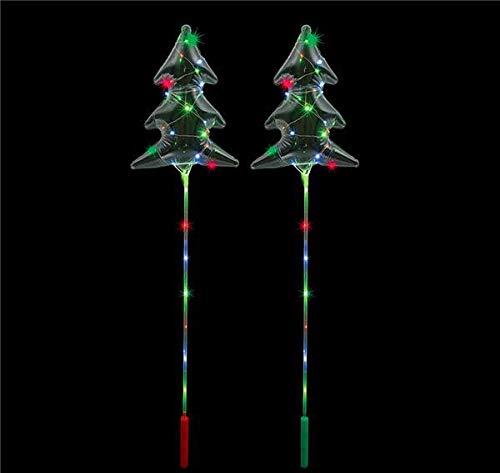 DollarItemDirect 18'' Light-UP Christmas Tree Balloon Wand 48/, Case of 48