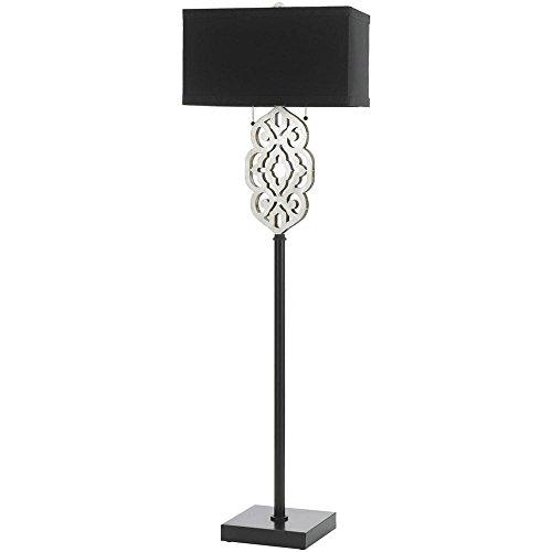 Af Lighting Modern Floor Lamp - AF Lighting 8423 Floor Lamp- Silver and Black
