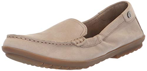 - Hush Puppies Women's AIDI Mocc Slipon Driving Style Loafer, Taupe Nubuck, 8.5 W US