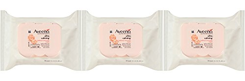 Price comparison product image Aveeno Ultra-Calming hCFDc Cleansing Makeup Removing Wipes, 25 Count (3 Pack)