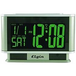 Geneva Clock #4248 SLV 1.9LCD Alarm Clock
