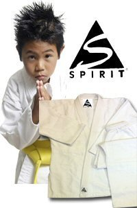 Karate 9oz 100% cotón Uniforme de Karate blanco (00/120cm) Spirit Sports
