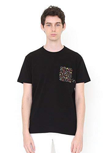 警戒不満天(グラニフ) graniph コラボレーションTシャツ/火の鳥ポケット (手塚治虫ショートスリーブティーA) (ブラック)