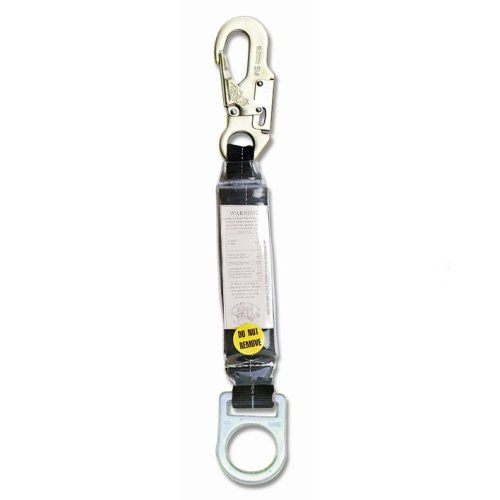 Guardian Fall Protection 01205 18-Inch Shock Absorbing Extension Lanyard with Snaphook End