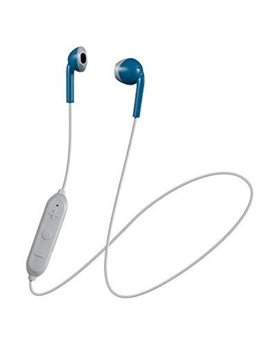 JVC HA-F15BT-AH ワイヤレスイヤホン Bluetooth対応/オープンタイプ/開放型/リモコン付き/高音質/小型・軽量設計 ブルー×グレー JVC HA-F15BT-AH