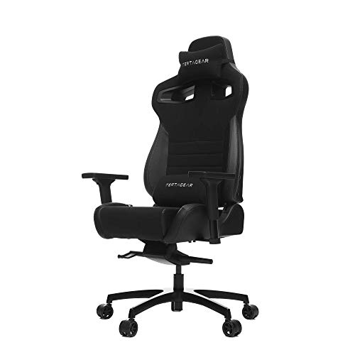 Vertagear Racing Series P-Line PL4500 Coffee Fiber with Silver Embroirdery Gaming Chair Black/Carbon Edition(LED/RGB Upgradable)