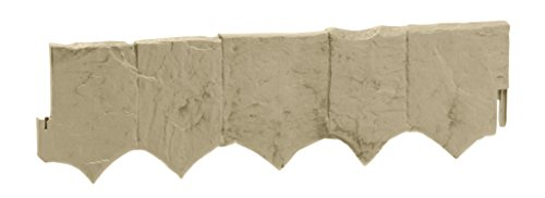 Garden Edging Borders - Suncast Flagstone Border Edging - Natural Flagstone Appearance for Garden, Lawn, and Landscape Edging - Waterproof Border for Containing Trees, Flower Beds and Walkways
