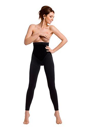 TESPOL sehr hochwertige figurformende Damen-Shaping-Leggings seamless made in Italy Schwarz Yvwqr