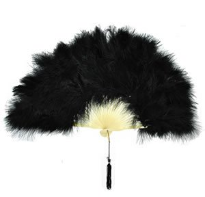 Black Feather Victorian Fan (Halloween Costumes 1 Year Old Uk)
