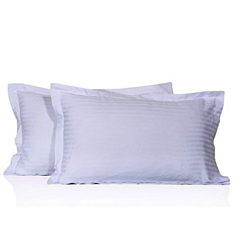(Calico Homes 600 Thread Count 100% Egyptian Cotton 2 Piece Pillow Shams Stripe Standard Size 20