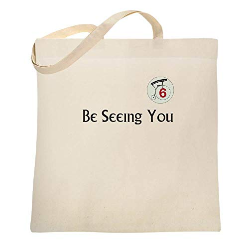 Be Seeing You Number 6 Cult Natural 15x15 inches Canvas Tote Bag -