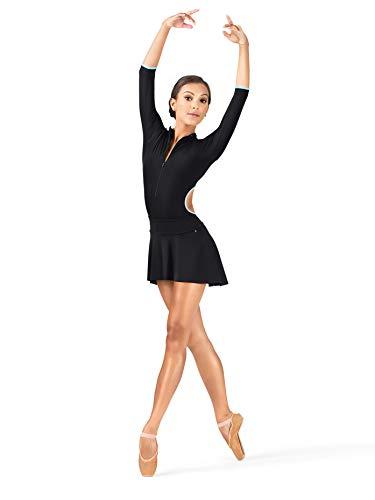 (Mariia Women's Polina Hi-Lo Ballet Skirt M, Black )