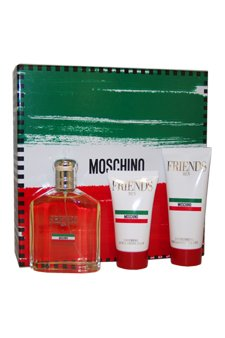 Moschino Friends by Moschino for Men - 3 Pc Gift Set 4.2oz EDT Spray, 3.4oz Refreshing Bath & Shower Gel, 1.7oz Soothing After Shave Balm
