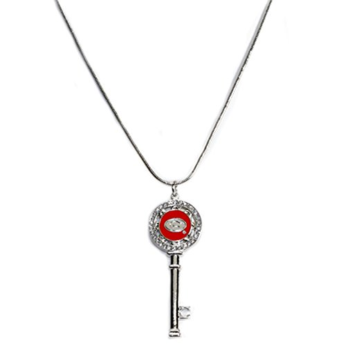 (Georgia Bulldogs Silver Plated Necklace with Key)
