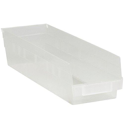 Plastic Shelf Bins 17 7/8 x 4 1/8 x 4 Clear 20/Case
