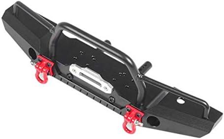 TRX4 Metal Front Bumper Reserveradträger mit Licht für 1/10 RC Crawler Autoteile Zubehör TRAXXAS TRX4 TRX-4 Schwarz - Schwarz