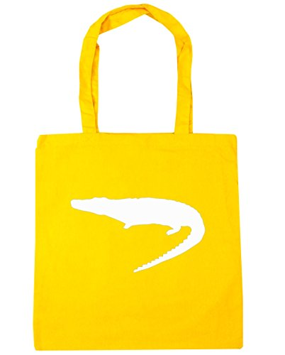 HippoWarehouse cocodrilo Tote Compras Bolsa de playa 42cm x38cm, 10litros amarillo