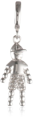 Sterling Silver Diamond Little Boy Charm