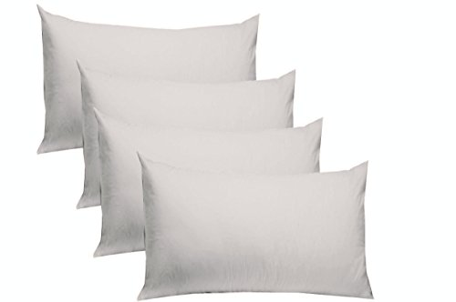 Cotton Craft 4 Pack Pillow Cases - Standard 20x30 - White - 220 TC Thread Count Soft Sateen - Generous 4 Inch Hem - 100% Pure Combed Ringspun Cotton - Easy Care Machine Wash (Pack Cotton 4)