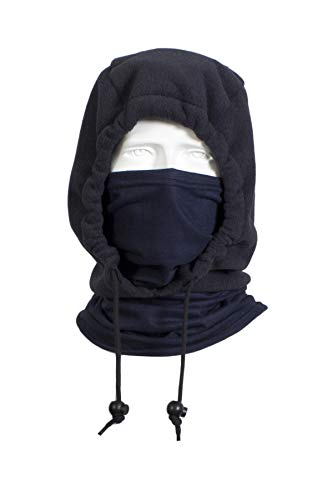 National Safety Apparel H74FL28 FR Nomex IIIA Fleece 3-in-1 Knit Hood, One Size, Navy