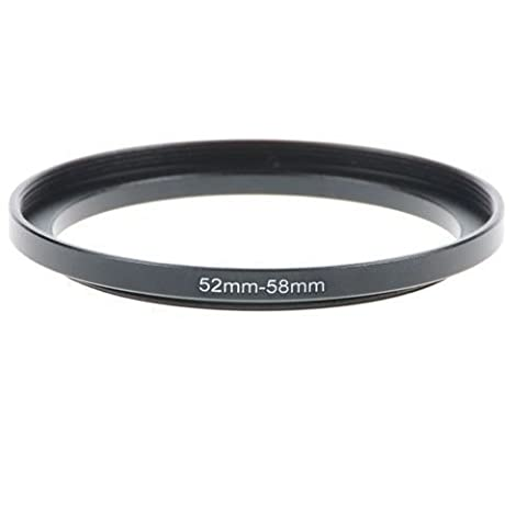 52-58mm Step-Up Metal Adapter Ring / 52mm Lens to 58mm Accessory - 52 Mm Step