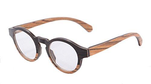 SHINU Retro Wood Frame Glasses Anti Blue Light Eyewear Blue Light Blocking Eyeglasses-128(anti blue - Eyeglass Wood Frames