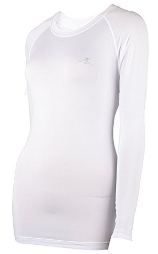 Xprin A100 Series Women's Long Sleeve Cool Base Layer Compression Shirt Sports Wear (S, A102 WHITE) by XPRIN (Image #3)