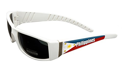 Philippines Design White Frame/Black Lens 60mm Sunglasses Item # - Eyewear Philippines