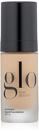 Glo Skin Beauty Luminous Liquid Foundation SPF 18 in Almond | 10 Shades | Sheer Coverage, Dewy Finish | 1 fl. ()